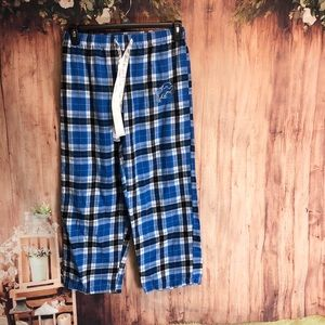 *736 Detroit Lions Plaid Pajama Pants